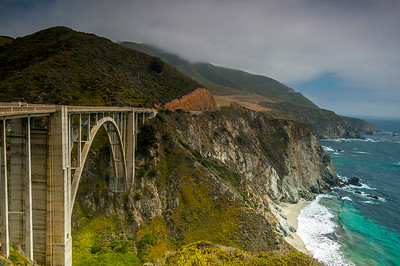 Bixby bridge in Big Sur, California